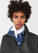 MANGO Lapels Leather Jacket