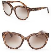 Valentino Lace-Print Oversized Sunglasses