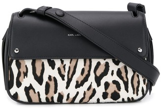 Karl Lagerfeld Paris K/Ikon leopard-print shoulder bag