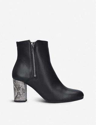 Carvela Comfort Rails snakeskin-embossed heel leather ankle boots
