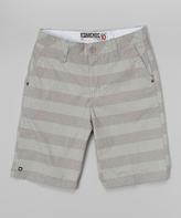 Micros Silver Plaid Shorts - Boys