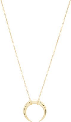 Gorjana Cayne Crescent Plated Pendant Necklace