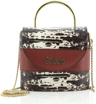Chloé Aby Lock Bag Lizard Embossed Leather Small