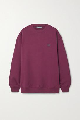 Acne Studios Appliqued Cotton-jersey Sweatshirt - Magenta