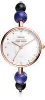 Fossil x Opening Ceremony Three-Hand Rose Stainless Steel Bangle Watch