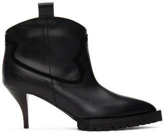 Sacai Black Heeled Cowboy Boots