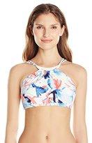 Vince Camuto Women's High Neck Crop Top Bikini Top