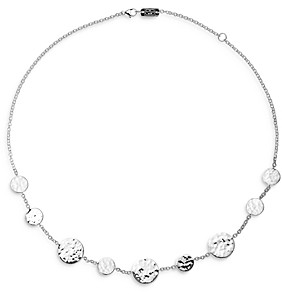 Ippolita Sterling Silver Classico Hammered Disc Necklace, 16