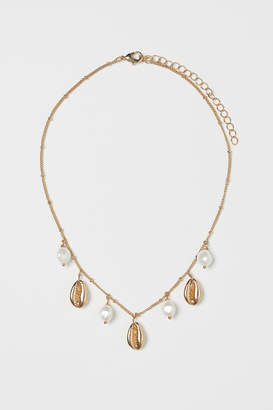 H&M Necklace with Pendants - White