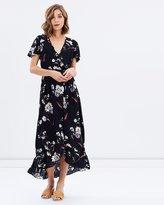 Sass Nolan Wrap Maxi Dress