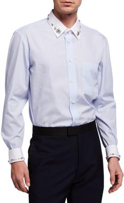 Burberry Men's Carterton Crystal-Embellished Sport Shirt