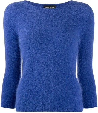 Roberto Collina Fitted 3/4 Sleeves Jumper