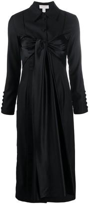 MATÉRIEL Satin-Panelled Shirt Dress