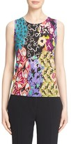 Etro Women's Floral Print Silk & Cashmere Shell