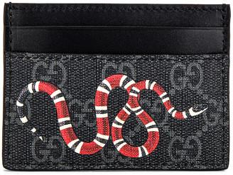 Gucci Card Holder in Black & Multi | FWRD