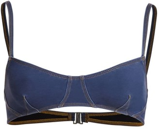 Jonathan Simkhai Wash Denim Bikini Top