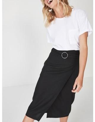 Cotton On Juniors' Woven Melanie Wrap Midi Skirt