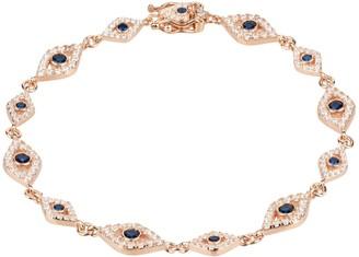 Latelita Eye Sparkling Tennis Bracelet Rosegold