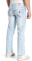 True Religion Paint Splatter Straight Jean