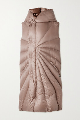 Moncler + Rick Owens Porterville Hooded Quilted Shell Down Vest