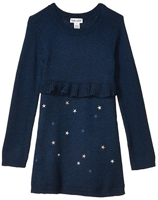 Splendid Littles Lurex Star Sweater Dress (Toddler/Little Kids) (Phantom Ink) Girl's Dress