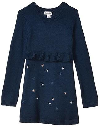 Splendid Littles Lurex Star Sweater Dress (Toddler/Little Kids)