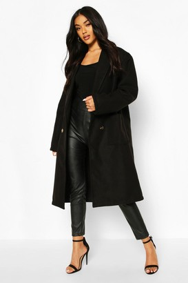 boohoo Oversized Wide Sleeve Wool Look Coat