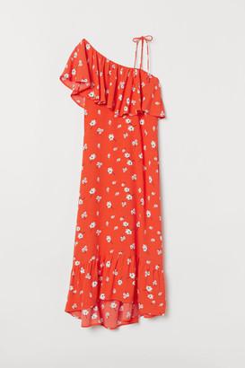 H&M Flounced Dress - Orange