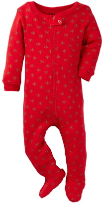 Leveret Snowflake Print Footed Pajama