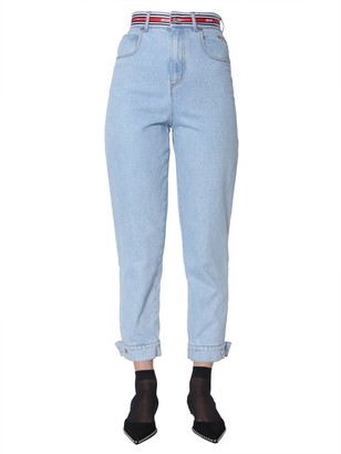 MSGM Button Detail Slim Fit Jeans