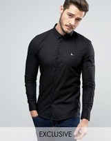 Jack Wills Hinton Skinny Fit Shirt in Black