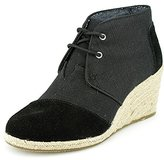 Toms Desert Wedge Burlap Suede Black Womens 7.5