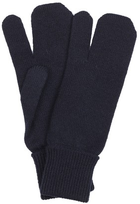 Maison Margiela Tabi wool and cashmere knit gloves