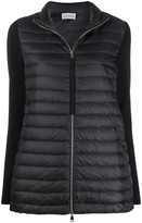 Moncler knitted sleeves zipped jacket