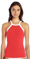 Seafolly Women's Block Party High Neck Singlet Tankini