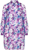 Studio Plus Size Floral long line cotton blend shirt