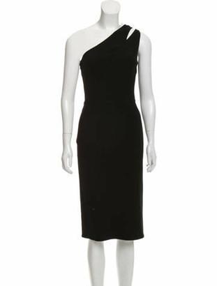 Oscar de la Renta 2019 Virgin Wool Dress Black