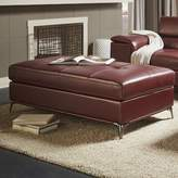 Wade Logan Mayson Tufted Ottoman Upholstery Color: Bolt Red