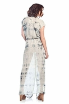 Gypsy 05 Carine Maxi Button Up Dress in Charcoal