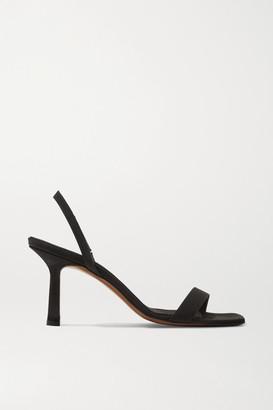 Neous Tulip Grosgrain Slingback Sandals - Black
