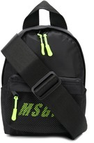 MSGM neon-logo mini backpack