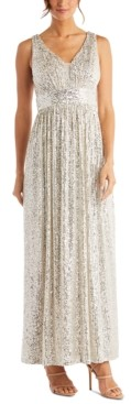 Night Way Nightway Sequin Gown