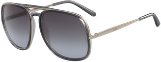 Chloé Square Aviator Sunglasses