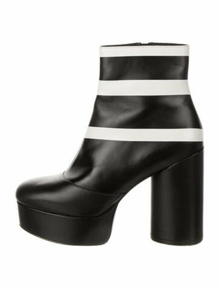 Marc Jacobs Leather Colorblock Pattern Boots Black