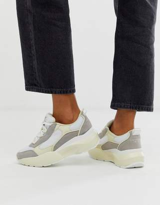 Sixty Seven Sixtyseven suede chunky sneakers-White