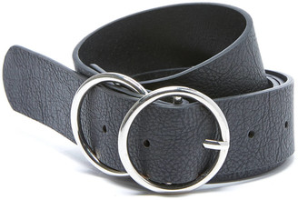 Fantas-Eyes Double Silver Circle Belt Black L