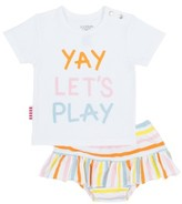 Infant Girl's Sookibaby Yay Let's Play Tee & Ruffle Bloomers Set