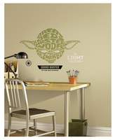 Star Wars RoomMates Typographic Yoda Peel and Stick Giant Wall Decals