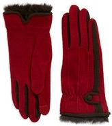 Echo Rabbit Fur-Trimmed Gloves