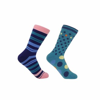 Peper Harow   Made In England Blueberry Elizabeth & Peacock Mary Women'S Socks